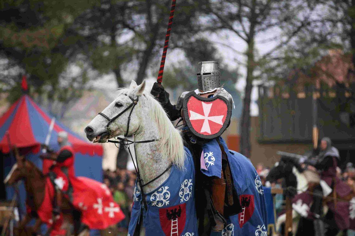"""Antica Fiera di Santa Lucia - cavaliere a cavallo -  Comitato """"Antica Fiera di S. Lucia"""""""
