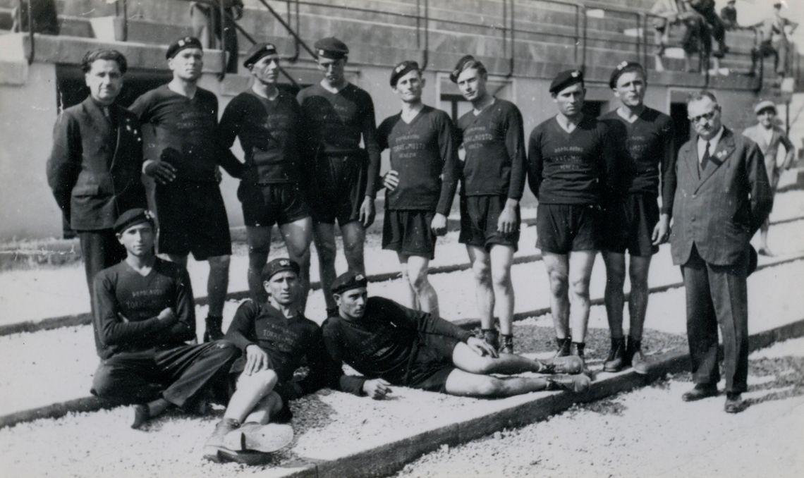 renzo vedovo la formazione torresana di tiro alla fune roma 1933 1934