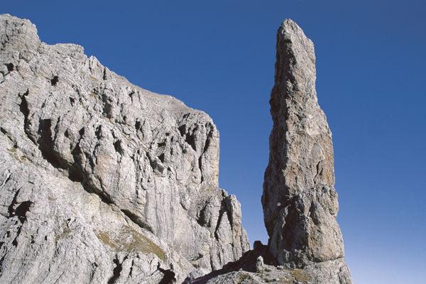 Pale di San Martino-San Lucano - Dolomiti Bellunesi - Vette Feltrine, Gusela del Vescovà visto da ovest -  Stefano Dal Molin