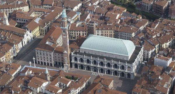 La Basilica Palladiana in veduta aerea -  Ufficio Unesco del Comune di Vicenza