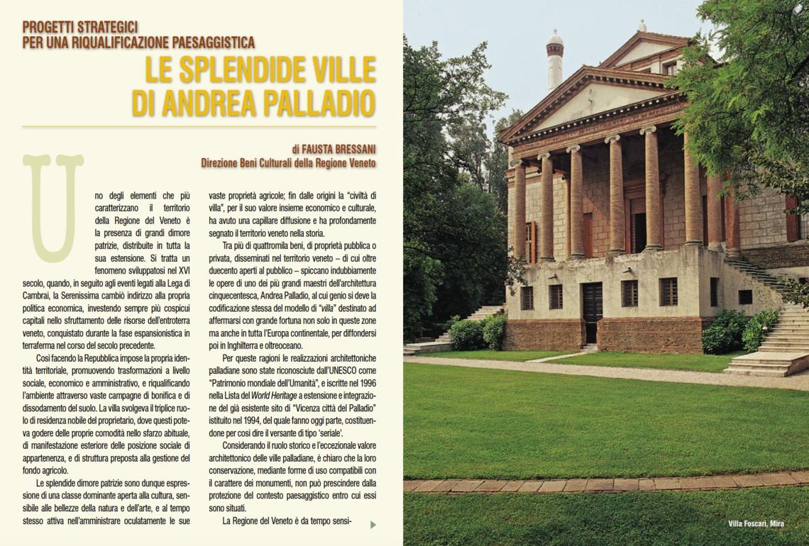 Fausta Brassani, Le splendide ville di Andrea Palladio