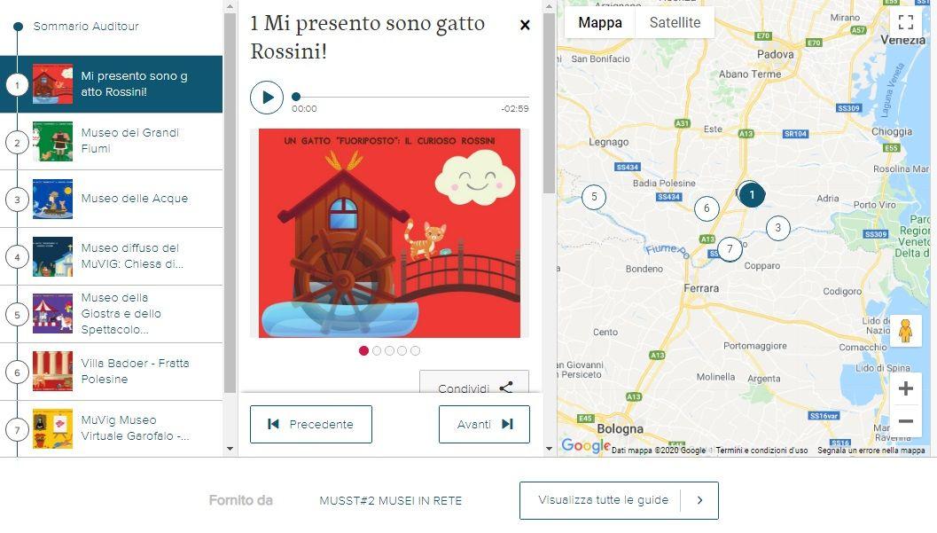 """Percorso """"Gatto Rossini"""" -  progetto MuSST"""