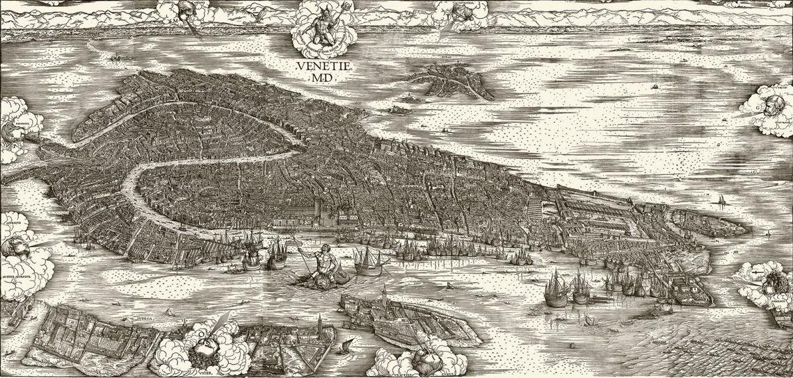 Jacopo de' Barbari, Veduta di Venezia a volo d'uccello -  Fondazione Musei Civici di Venezia - Archivio fotografico