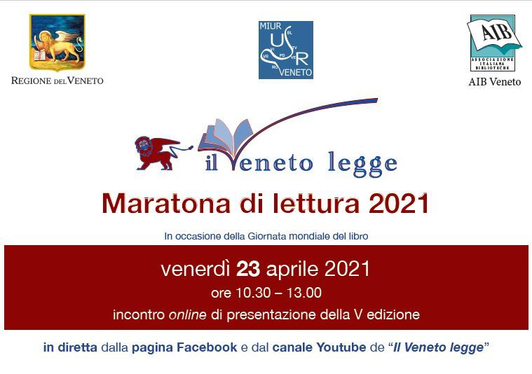 """Avvio della Maratona di Lettura 2021 """"Il Veneto legge"""""""