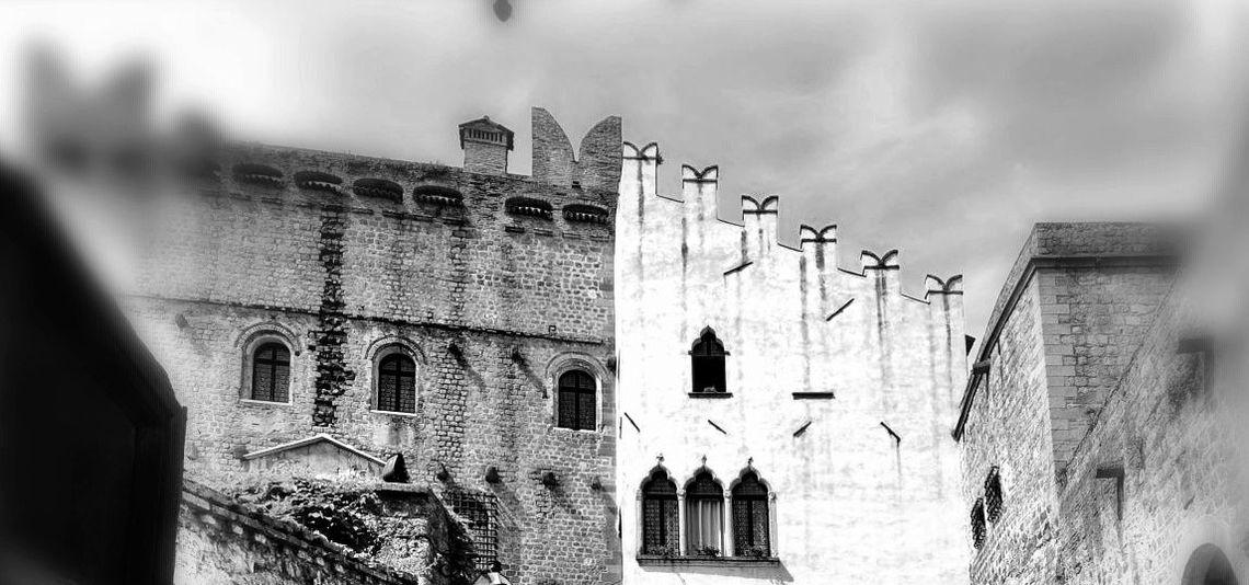 Castello di Monselice (PD) bn sfuocato, merli -  Pro loco di Monselice (PD)